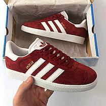 Женские кроссовки в стиле Adidas Gazelle Bordeaux (36, 37, 38, 39, 40, 41 размеры), фото 2