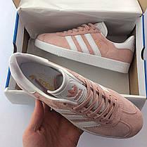 Женские кроссовки в стиле Adidas Gazelle Pink (36, 37, 38, 39, 40 размеры), фото 3
