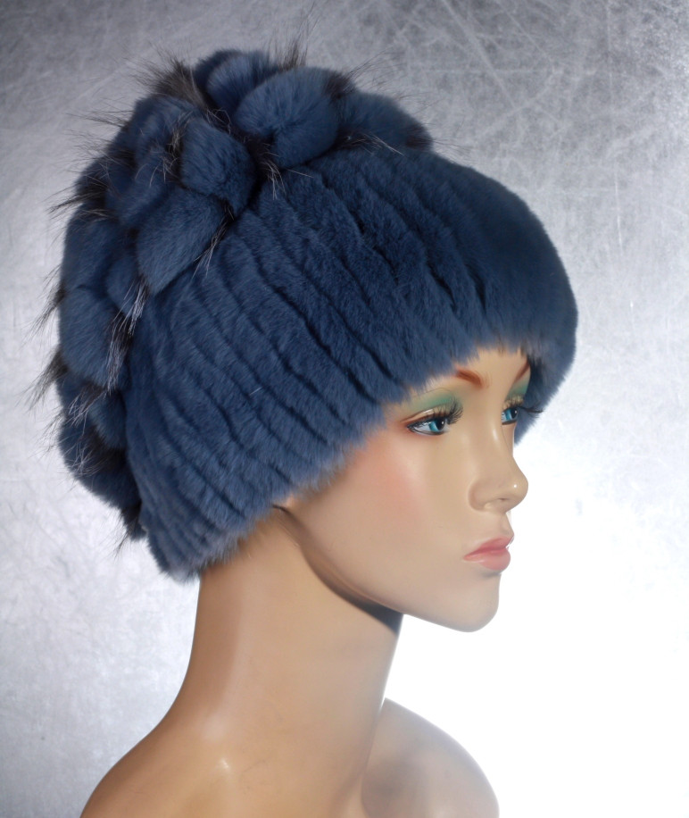 Женская меховая шапка Виноград из рекса 575649fd360fe