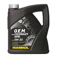 Оригинальное моторное масло MANNOL O.E.M. for Chevrolet Opel 5W-30 API SN/SM/CF 4л