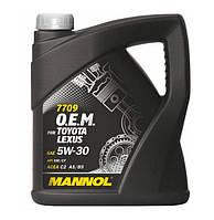 Оригинальное масло MANNOL O.E.M. for Toyota Lexus 5w30  API SM/CF 4л