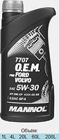 Оригинальное моторное масло MANNOL O.E.M. for Ford Volvo 5W30 API SM/CF 1л