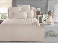 Однотонное постельное белье страйп Arya Sorbe