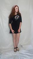 Ексклюзивна жіноча сукня з розписом на тканині у вигляді єдинорога 12-ти кольорів Платье женское единорог