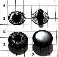 Кнопка ALFA 12.5 мм  (китайская)