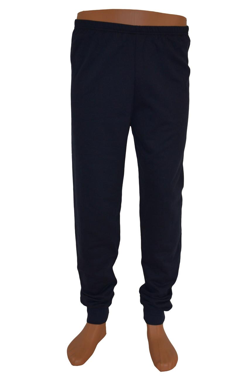 Трикотажные штаны тёмно-синие тёплые