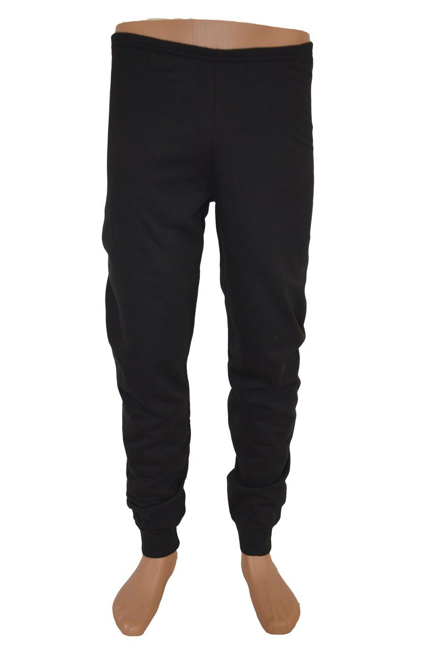 Штаны трикотажные черные без начёса