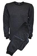 Бельё нательное тёмно-серое с начесом, фото 1