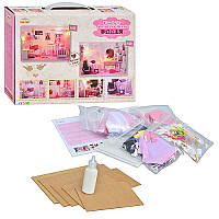 Набор для детского творчества мебель KHT 007 спальня сделай сам