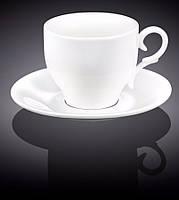 Чашка кофейная с блюдцем 90мл Wilmax 993103