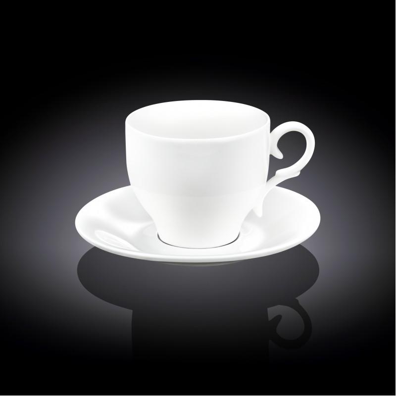 Чашка для капучино с блюдцем 170мл Wilmax 993104