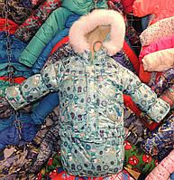 Детский зимний комбинезон Тройка-конверт 3 в 1 мятный снеговик