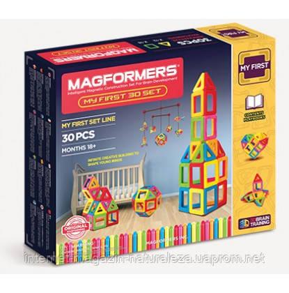 Конструктор магнитный Magformers Мой первый набор 30 элементов