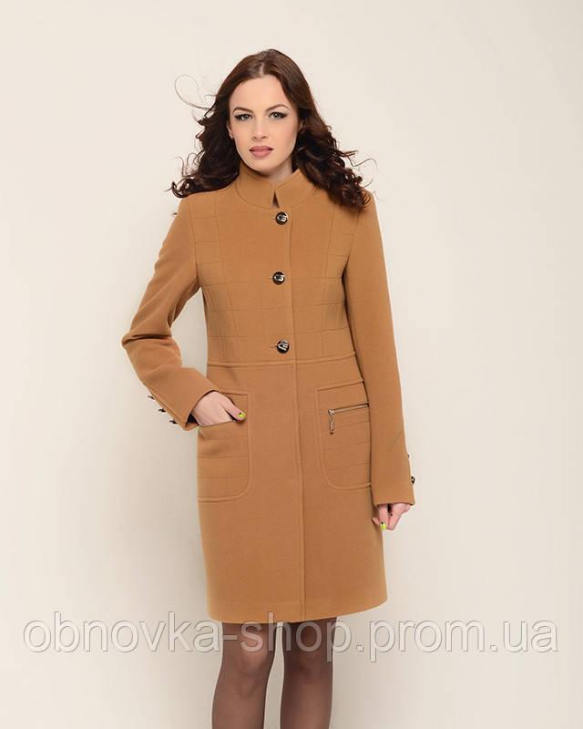 80d884b6bfa Женское пальто с воротником стойка - Интернет-магазин одежды и обуви в  Харькове