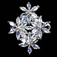 Кольцо танзанит натуральный огранка маркиз серебро 925 Цветы