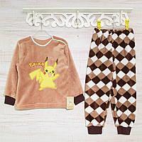 Теплая детская пижама р. 86- 92 , 2217KAY махровые -вельсофт, в наличии 92,104,116  Рост