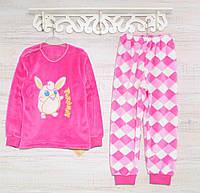 Теплая детская пижама р. 98-104 , 2217KAY махровые -вельсофт, в наличии 92,104,116  Рост