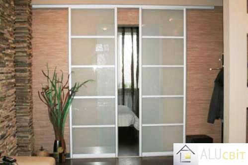 Межкомнатные раздвижные  двери купе (в гардеробные, кладовки), фото 2