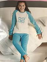 Пижама детская велюровая для девочки Alive 7-8 лет