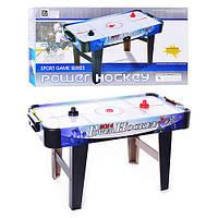 Хоккей ZC 3005 C (4шт) воздушный, деревянный, на ножках, 85-42,5-21,5, от сети, в кор-ке, 85-45-43см