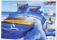 Комплект постельного белья  ELWAY сатин 3D 142