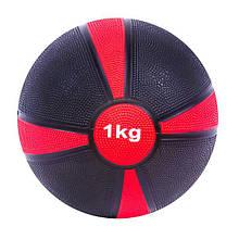 Мяч медицинский медбол 1кг диаметр 19 см