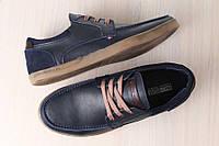 Спортивные туфли-мокасины кожаные