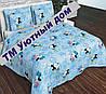 Детское постельное бельё в кроватку МиккиМаусы на голубом