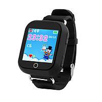 Детские телефон-часы с GPS трекером UWatch Q100-S черные