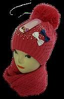 Шапка и шарф для девочек