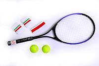Набор для игры в большой теннис - ракетка, 2 мяча, чехол