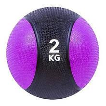 Медбол медицинский для тренировок IronMaster на 2 кг фитнес-мяч 19 см