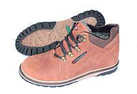 Зимние кожаные мужские ботинки ММ2, рыжие