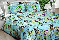 Полуторное и подростковое детское постельное бельё Пираты