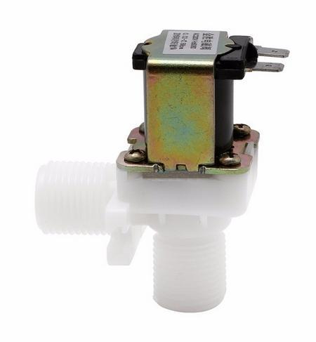 Водяной электромагнитный клапан для воды или проч. жидкостей, DC 12V (угловой)