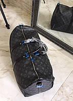 Дорожная сумка LV KEEPALL 55 см С ПЛЕЧЕВЫМ РЕМНЕМ (реплика), фото 1