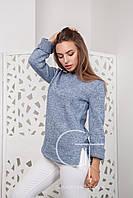 Женский вязаный свитер прямого кроя SV С26377