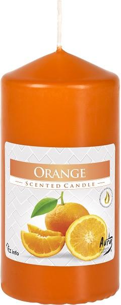 Свеча ароматическая столбик Bispol Апельсин 12 см (swz60/120-63)