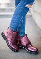 Женские утеплённые ботинки-оксфорды, р.р 35-41, в расцветках