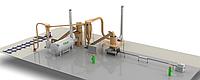 Комплектные заводы для производства топливных брикетов.