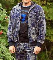 Мужская олимпийка с капюшоном