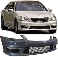 Передний бампер на Mercedes S-Сlass W221