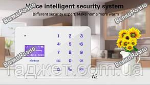GSM сигнализация KERUI A2, Android / IOS, Русское меню!! Без антенные датчики., фото 2