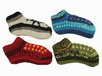 Вязаные носки детские цветные