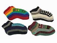 Детские носки вязаные цветные