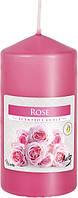 Свеча ароматическая столбик Bispol Роза 12 см (swz60/120-78)
