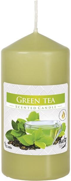 Ароматична свічка стовпчик Bispol Зелений чай 12 см (swz60/120-83)