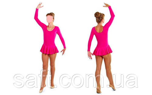 817d9494e07ed Купальник гимнастический с длинным рукавом с юбкой Хлопок малиновый (р-р  XS-XL, 100-165см): продажа, цена в Кременчуге. одежда для хореографии и  гимнастики ...