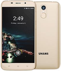 """Uhans A6 gold 2/16 Gb, 5.5"""", MT6580, 3G"""