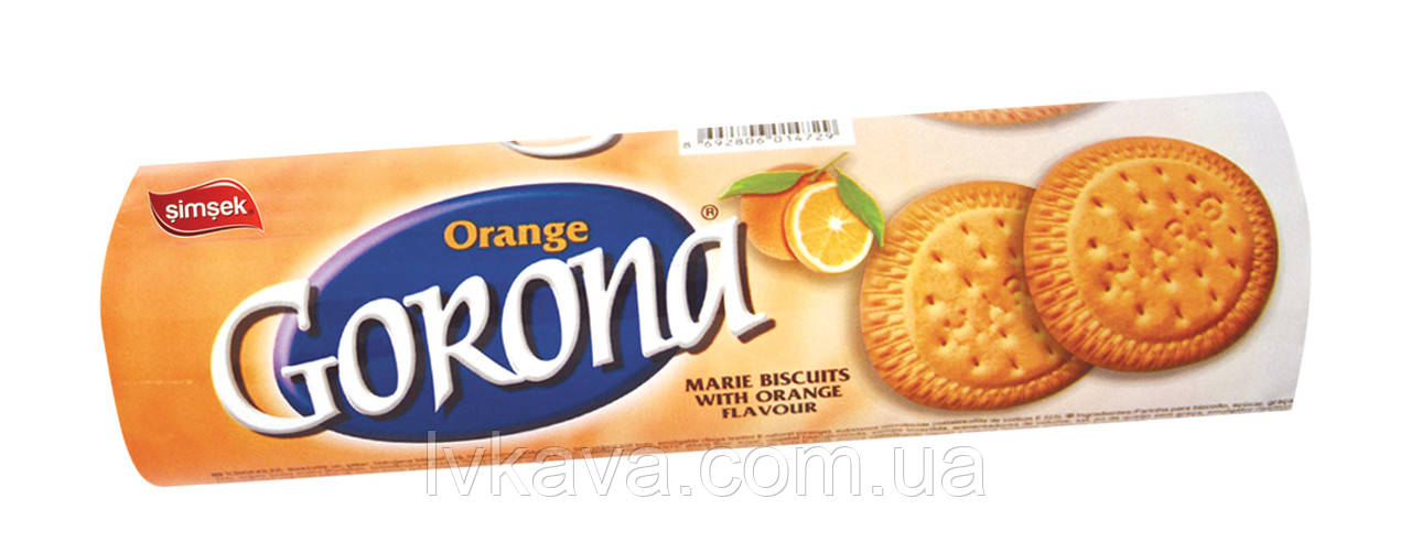 Печенье Gorona Marie Simsek с апельсиновым вкусом, 120 гр